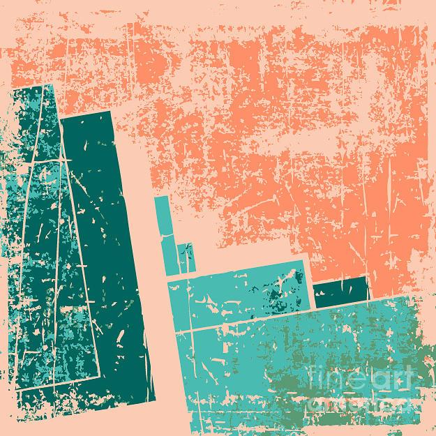 Pink Digital Art - Old Grunge Pattern Vector Background by Nik Merkulov