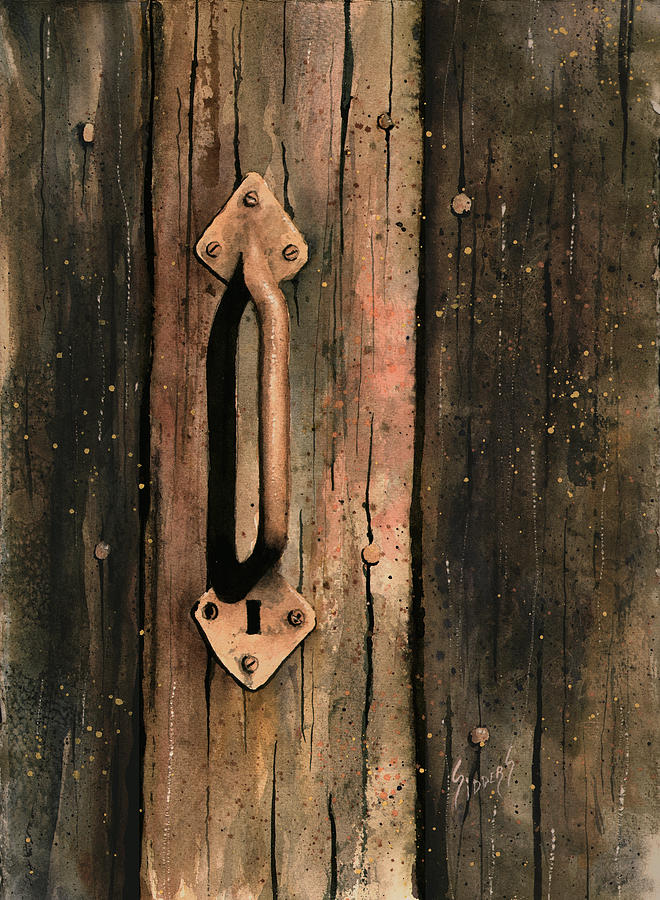 Rustic Painting - Old Handle by Sam Sidders