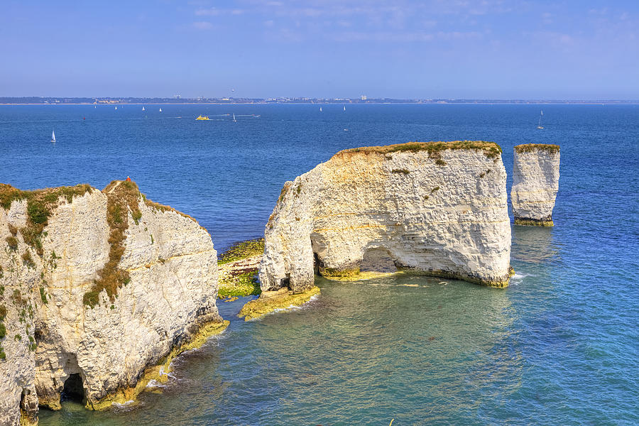 Studland Photograph - Old Harry Rocks - Purbeck by Joana Kruse
