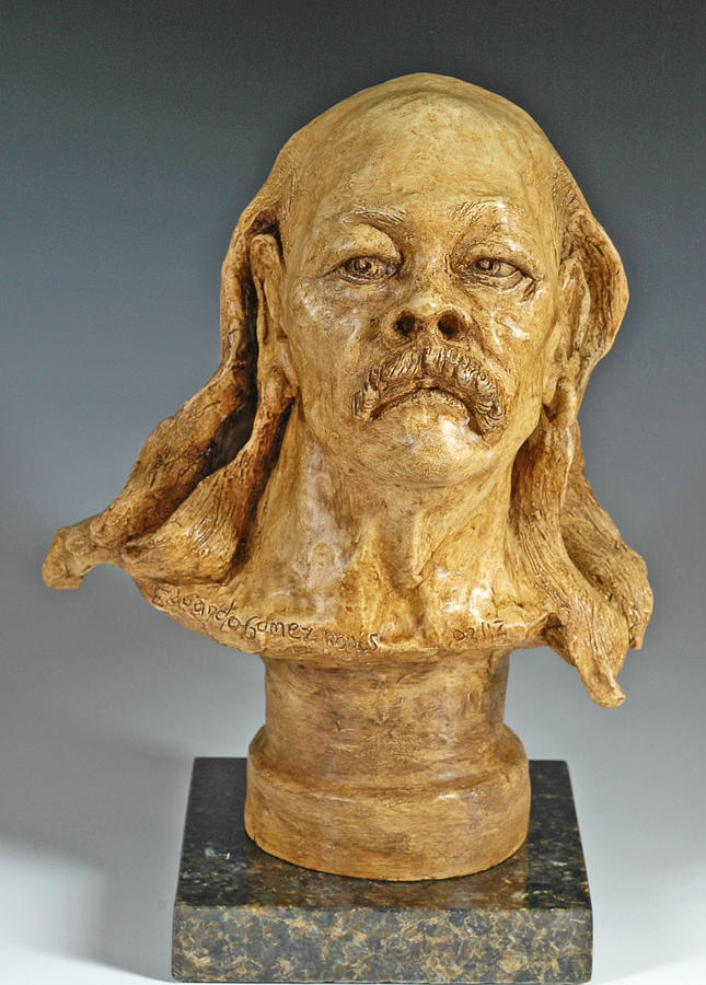 Figurative Sculpture Sculpture - Old Hippie by Eduardo Gomez