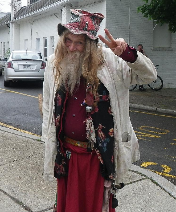 Old Hippie In Woodstock Ny Photograph by Anna Ruzsan