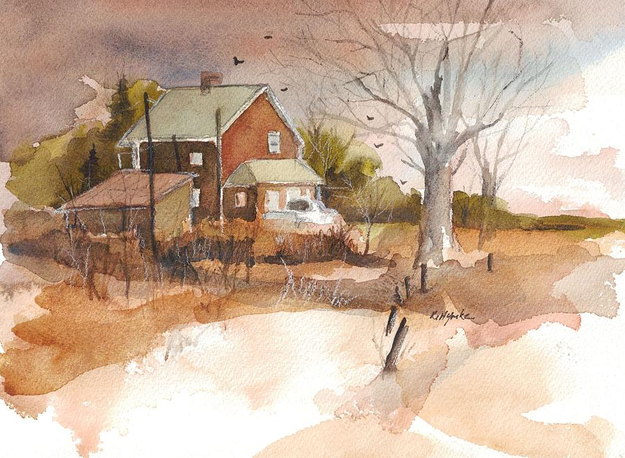 Farm Painting - Old Home Place by Robert Yonke