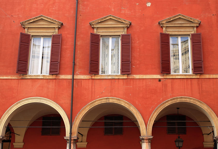 Old House Facade In Modena, Italy Photograph by Biriberg