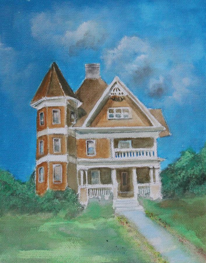 Old house painting by gloria jones for Classic house painting