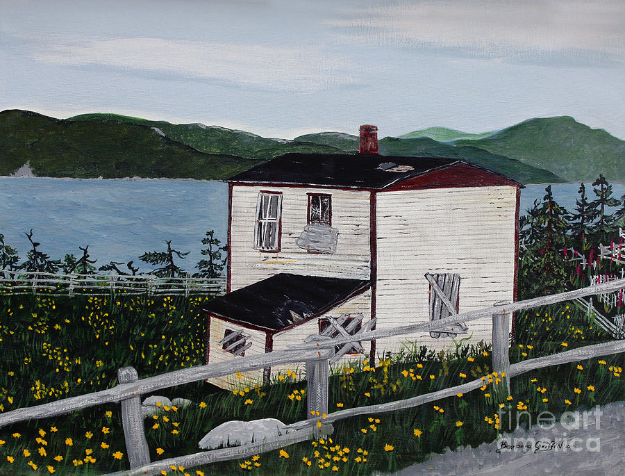 Old House If Walls Could Talk Painting - Old House - If Walls Could Talk by Barbara Griffin