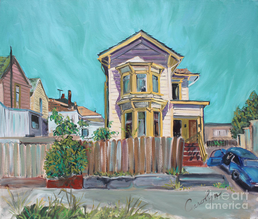 City Landscape Painting Painting - Old House In East Oakland by Asha Carolyn Young