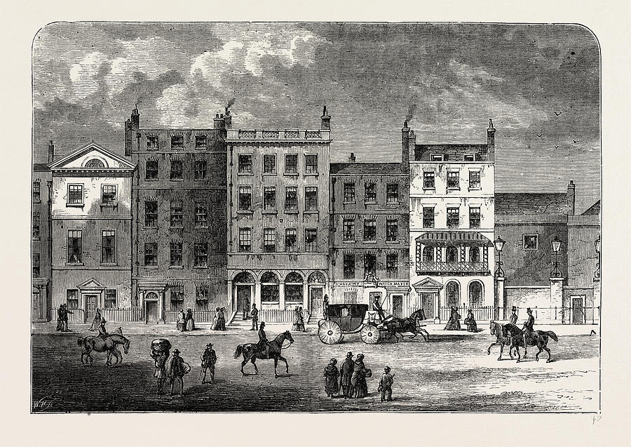 Old Houses In Pall Mall, About 1830, London