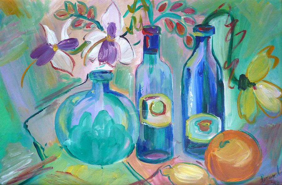 Painting Painting - Old Hyacinth Bottle by Brenda Ruark