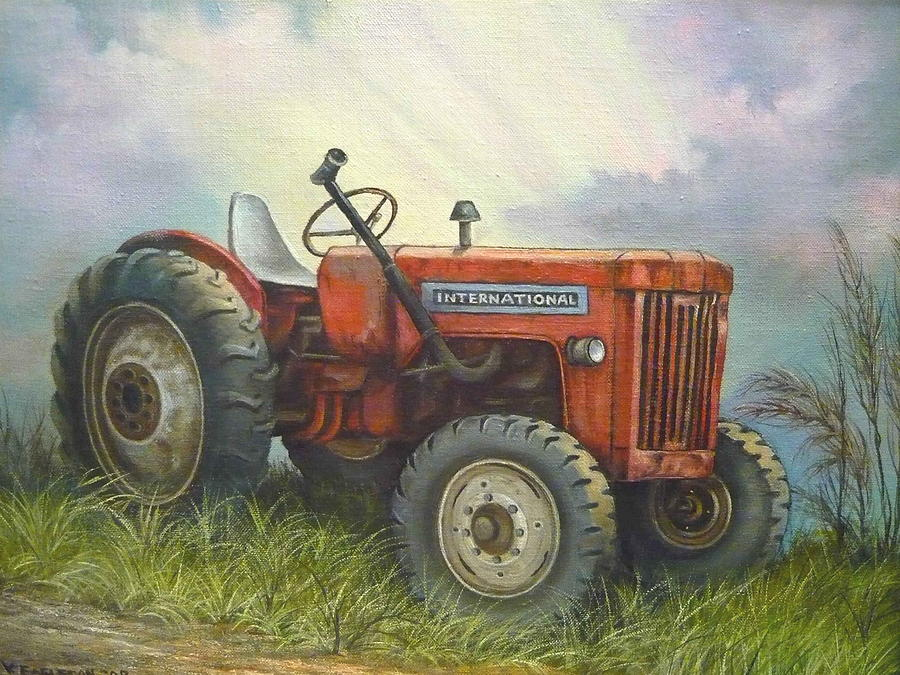 International Tractor Painting : Old international farm tractor painting by vivian eagleson