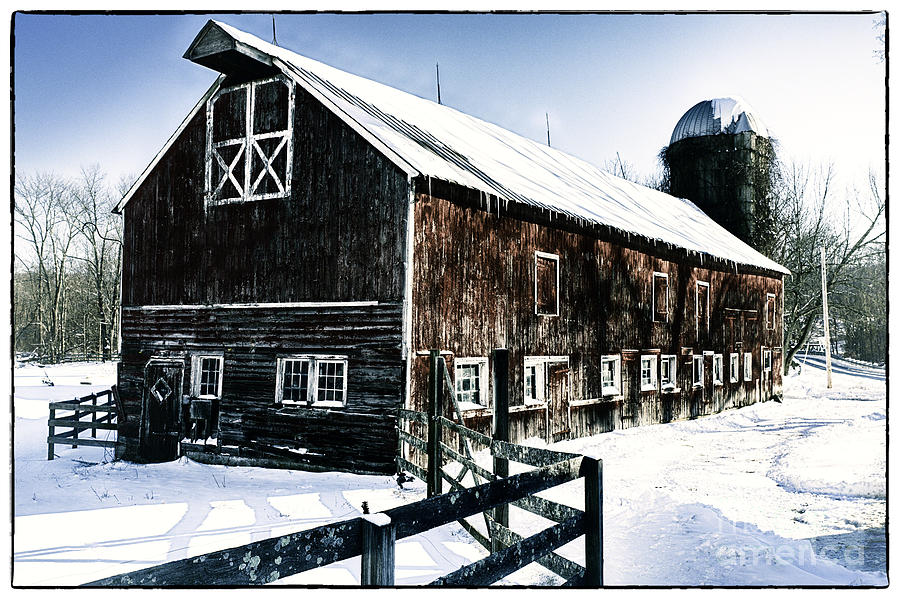 Agriculture Photograph - Old Jersey Farm In Winter by George Oze
