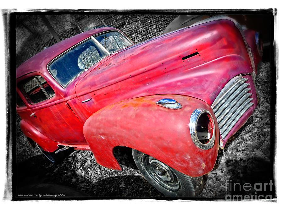 Car Photograph - Old Junker Car by Edward Fielding
