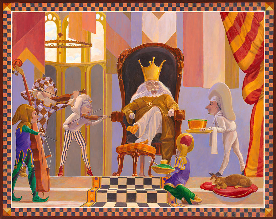Old King Cole Painting - Old King Cole by Leonard Filgate