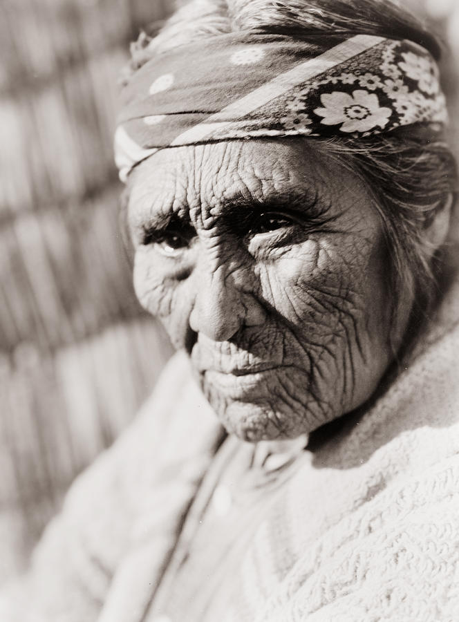 Old Photograph - Old Klamath Woman Circa 1923 by Aged Pixel