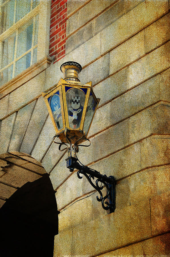Old Lantern. Dublin Castle. Streets Of Dublin. Painting Collection Photograph