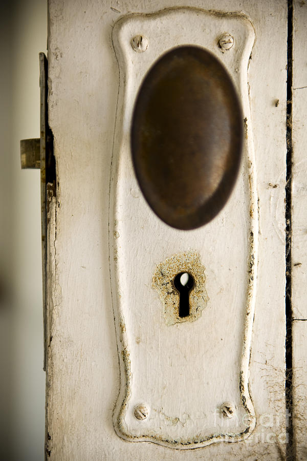 Door Photograph - Old Lock by Tim Hester