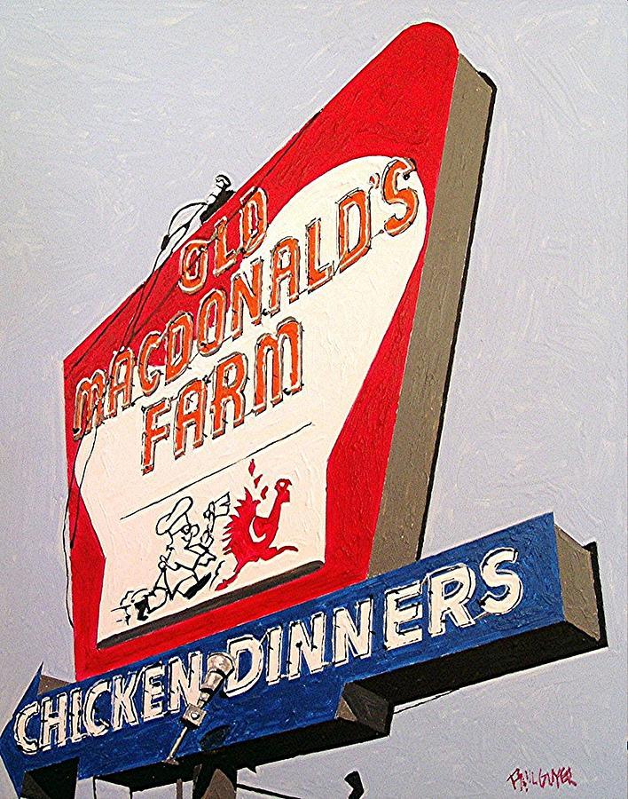Sacramento Painting - Old Macdonalds Farm by Paul Guyer
