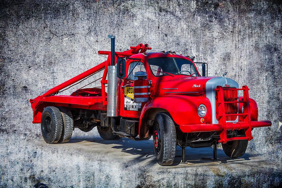 Old Truck Photograph - Old Mack Truck by Doug Long