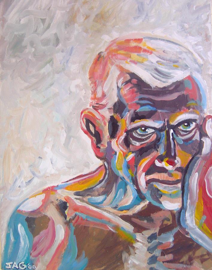 Portrait Painting - Old Man In Time by John Ashton Golden