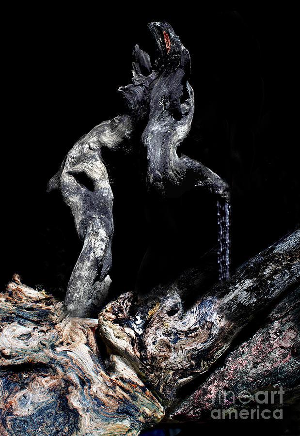 Fantasy Photograph - Old Man Walking by Petros Yiannakas