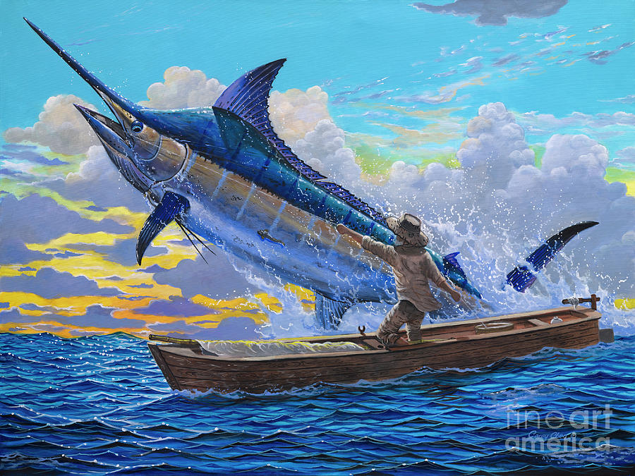 Marlin Painting - Old Man and the Sea Off00133 by Carey Chen