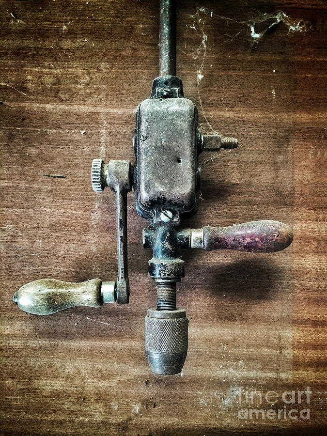 Drill Photograph - Old Manual Drill by Carlos Caetano