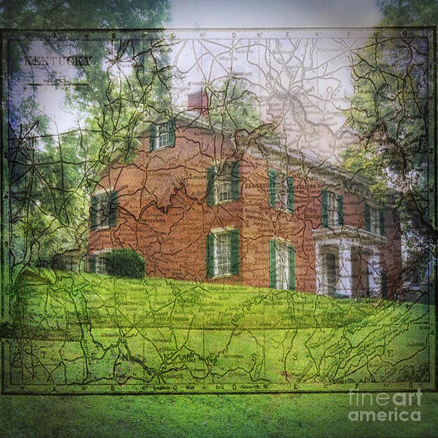 Old Map Series-Kentucky by Pamela Baker