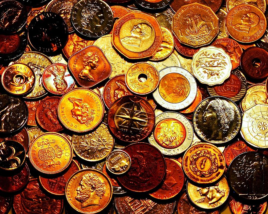 Coins Photograph - Old Metal by Benjamin Yeager
