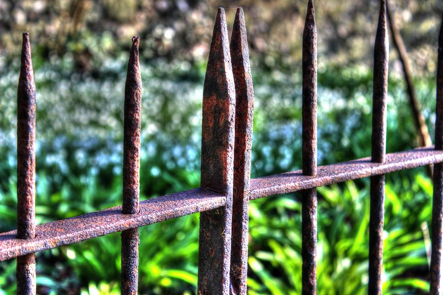 Metal Fence Photograph - Old Metal Fence in Winchester by Peggy Berger