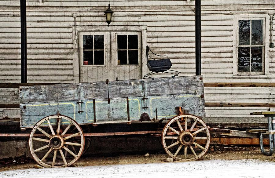 Antique Photograph - Old Mill And Wagon by Cheryl Cencich
