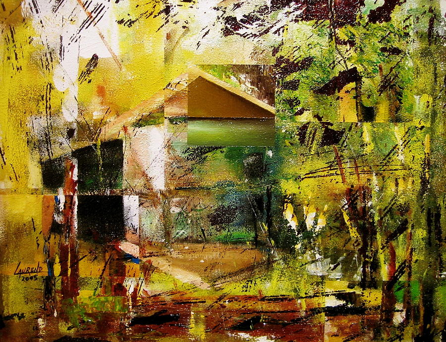Abstract Painting - Old Mill by Laurend Doumba