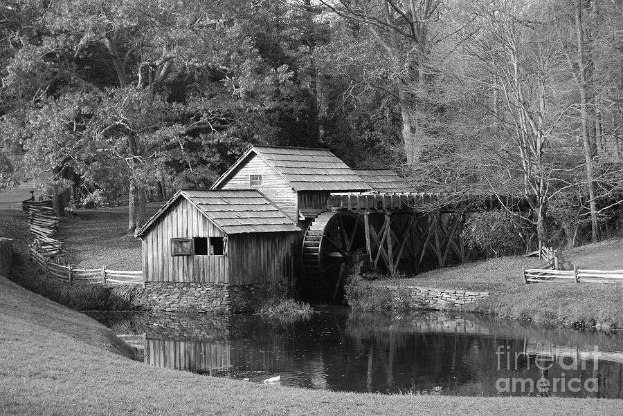 Virginia Photograph - Virginias Old Mill by Eric Liller