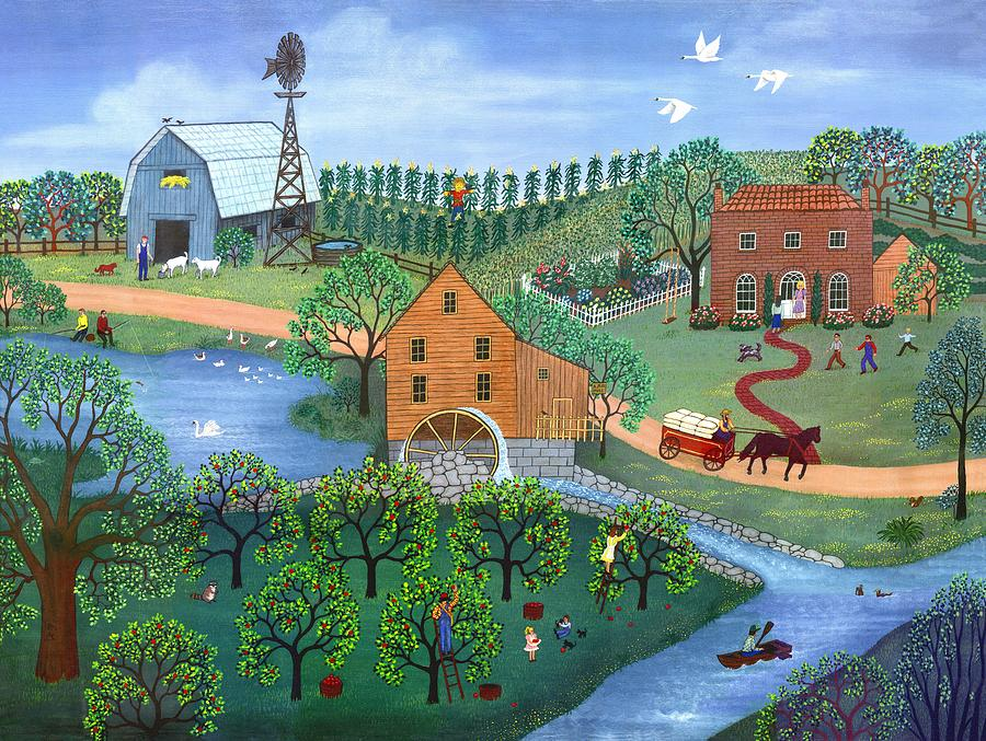 Landscape Painting - Old Mill Stream by Linda Mears