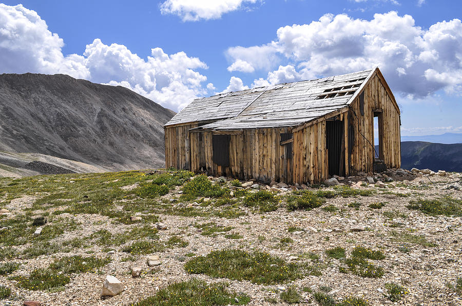 House Photograph - Old Mining House by Aaron Spong