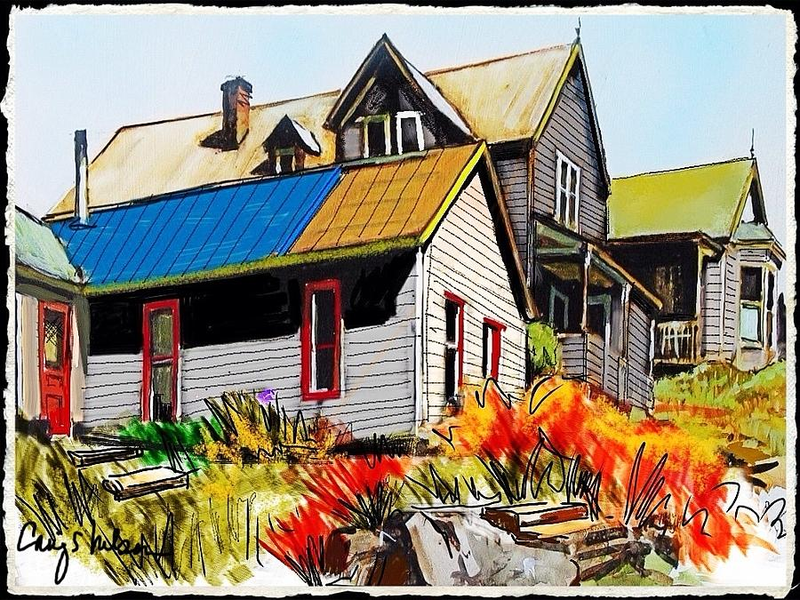 Colorado Ghost Town Mixed Media - Old Mining Town by Craig Nelson