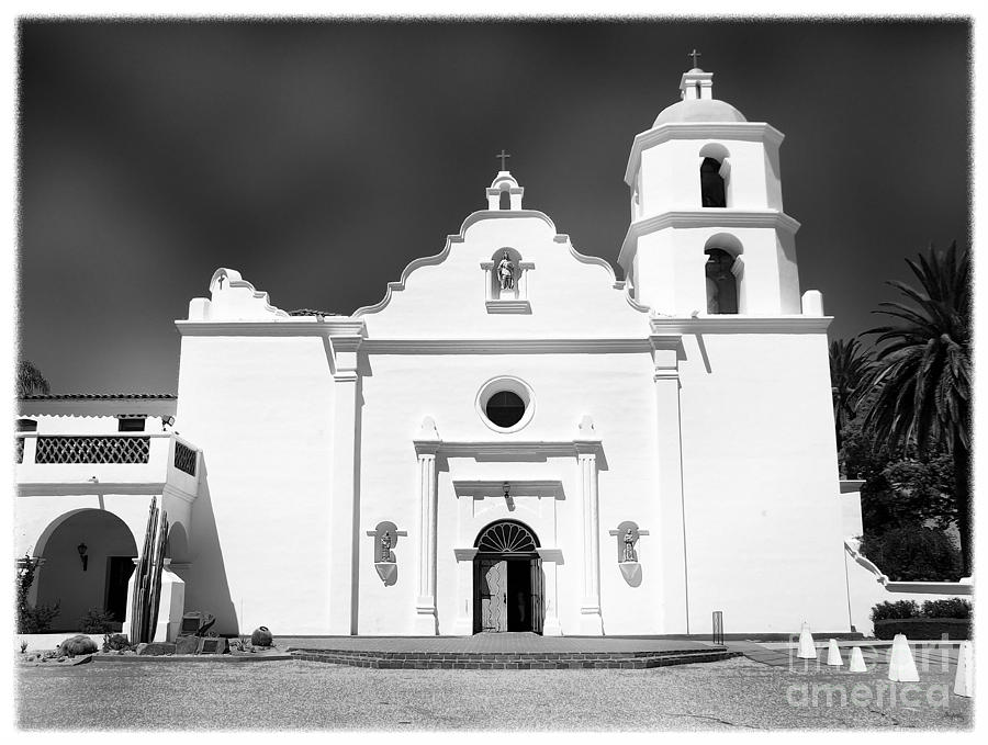 California Mission Photograph - Old Mission San Luis Rey De Francia by Glenn McCarthy Art and Photography