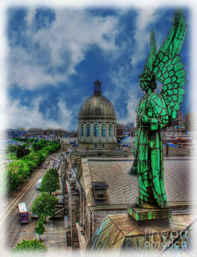 Canadian Photograph - Old Montreal Angel II by Lee Dos Santos