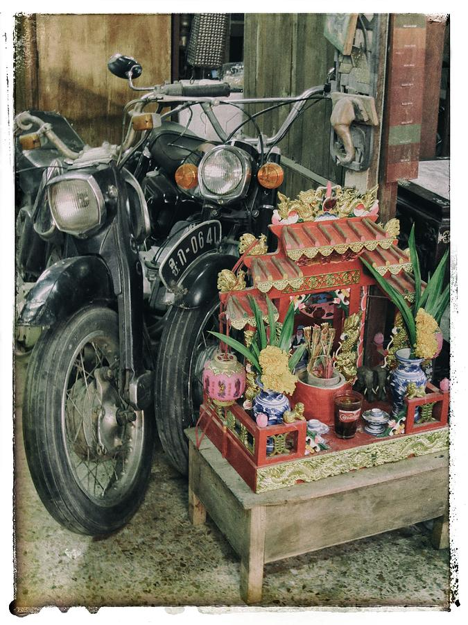 Motorcycle Photograph - Old Motorcycles East Of Bangkok by River Engel