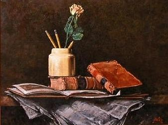 Still Life Painting - Old News by Jim Gola