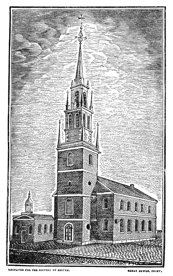 1775 Photograph - Old North Church, 1775 by Granger