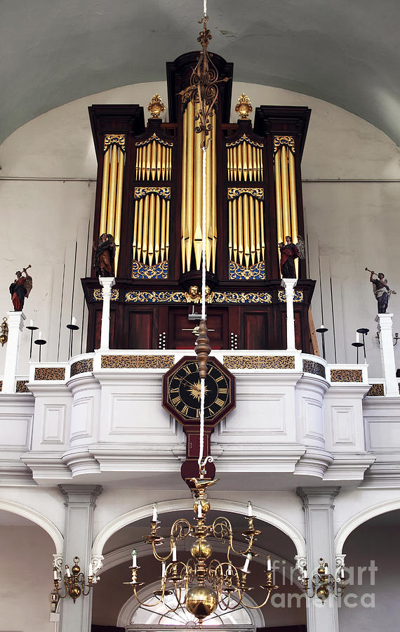 Little Italy Photograph - Old North Church Organ by John Rizzuto