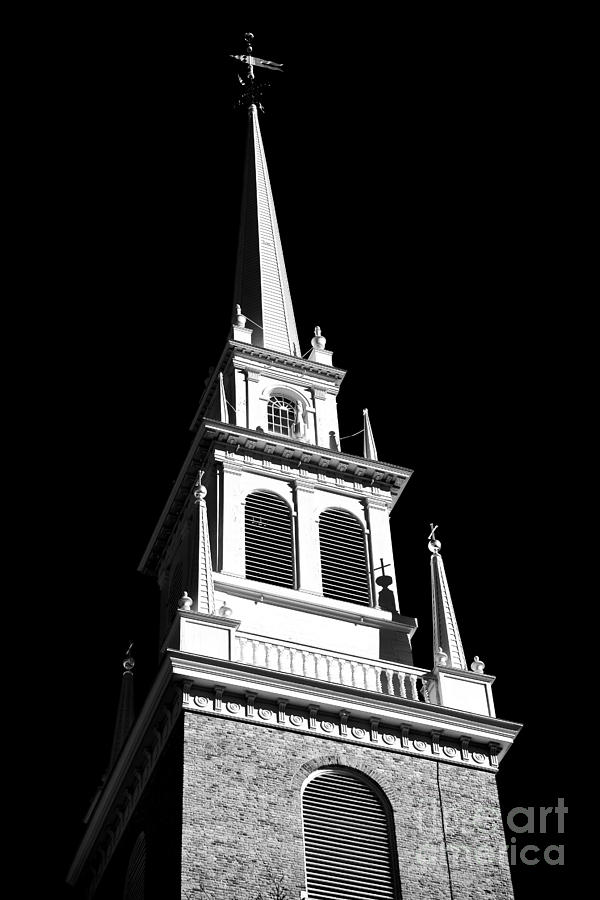 Little Italy Photograph - Old North Church Star by John Rizzuto