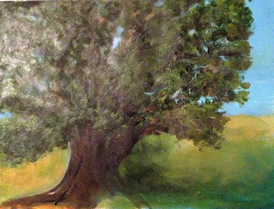 Landscape Painting - Old Oak by Andrea Friedell