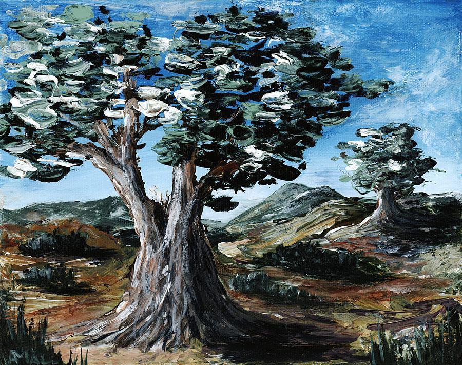 Hills Painting - Old Olive Tree by Anastasiya Malakhova