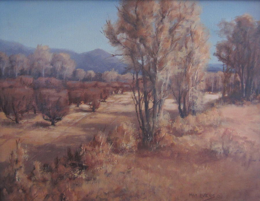 Landscape Painting - Old Orchard by Mar Evers