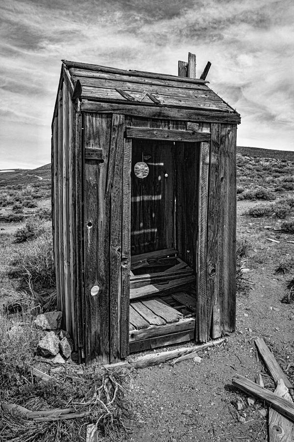 Old Photograph - Old Outhouse by Garry Gay