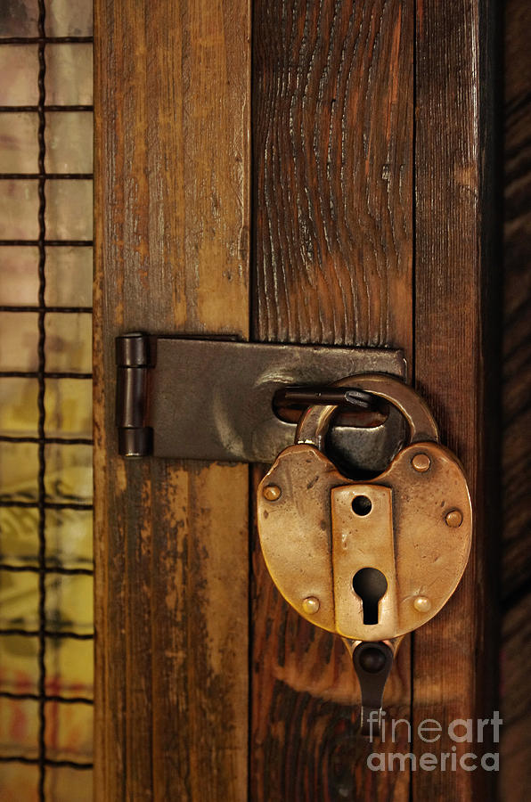 Lock Photograph - Old Padlock by Carlos Caetano