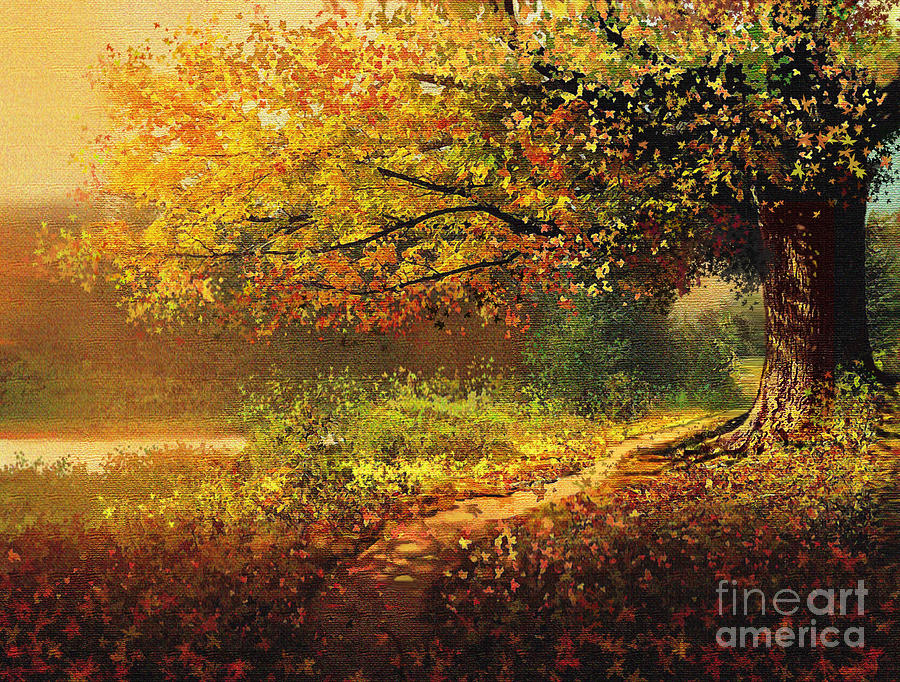Fall Painting - Old Path by Robert Foster