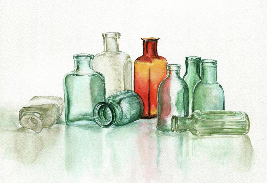 Old Pharmacys Glassware Photograph by Sergey Ryumin