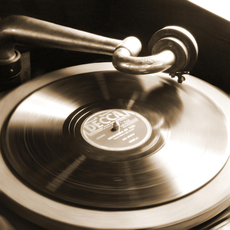Record Player Photograph - Old Phonograph by Mike McGlothlen