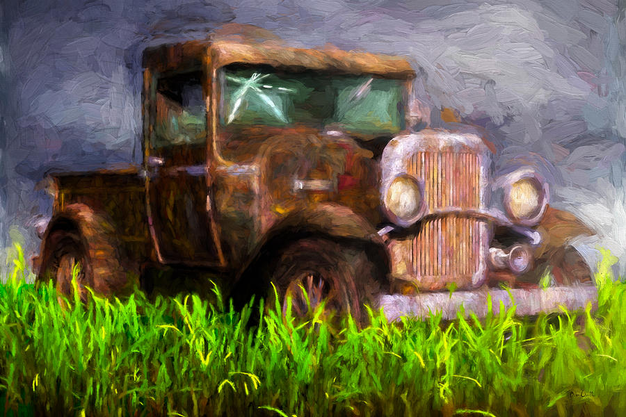 Truck Painting - Old Pickup by Bob Orsillo